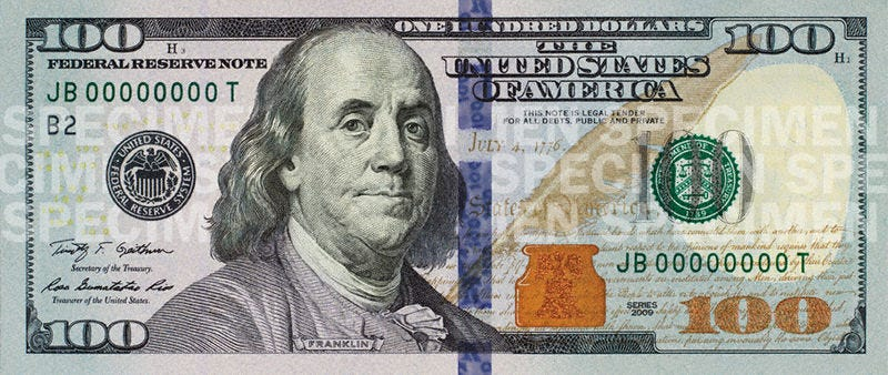photo regarding Printable 100 Dollar Bill Front and Back known as Heres Your Fresh new and Superior Hundred Greenback Monthly bill