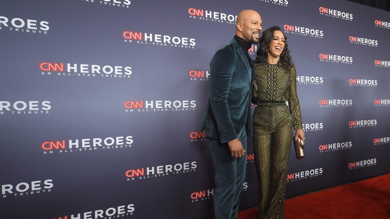 Common and Angela Rye attend CNN Heroes 2017 at the American Museum of Natural History on Dec. 17, 2017, in New York City.