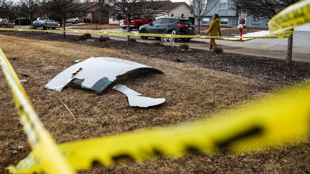 Check Out the Debris That Rained Down on a Colorado Suburb After a Plane s Engine Exploded