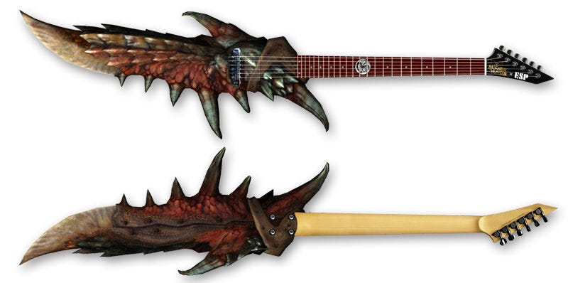 Illustration for article titled The $22k Official Monster Hunter Guitar Looks Genuinely Dangerous