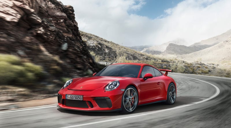 2018 porsche 911 gt3 gets manual transmission and 198 mph top speed