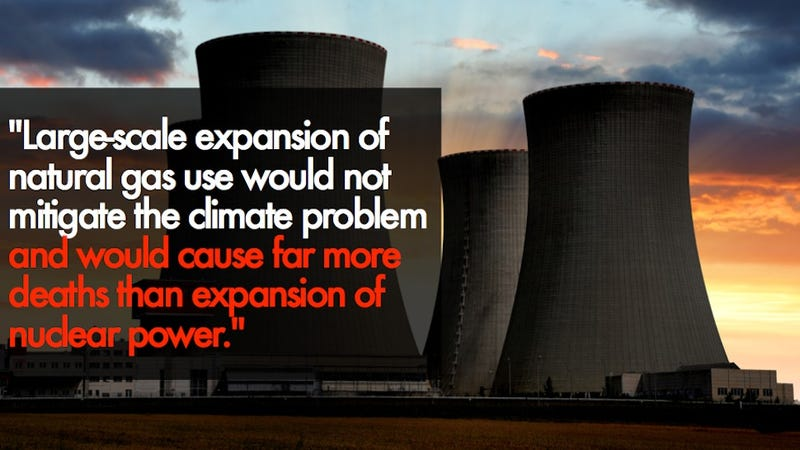 Illustration for article titled NASA Researchers: Nuclear power will kill fewer people than natural gas