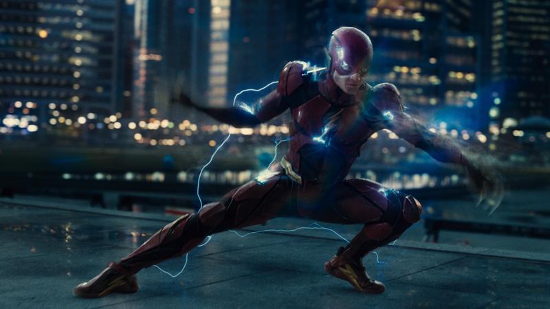 Ezra Miller as The Flash.