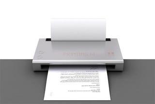 Illustration for article titled Hanging Printer Saves Desk Space