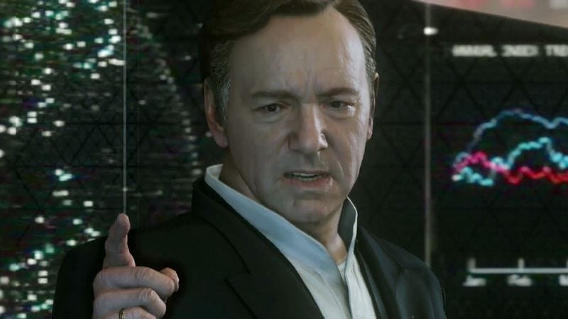Illustration for article titled Kevin Spacey to play—go figure—a power-mad leader in next Call Of Duty game