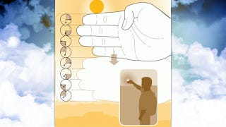 Illustration for article titled Estimate the Time of Sunset with Your Hand