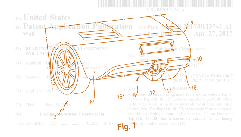 Illustration for article titled Porsche Patent Shows Research On An Active Rear Diffuser