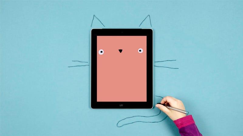 Illustration for article titled Drawnimal, una aplicación de iPad o iPhone para dibujar... en papel