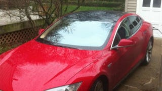 Illustration for article titled Tesla Model S Trapped In AutoWeek Editor's Driveway By Defective Charger