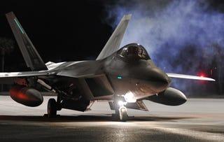 Illustration for article titled F-22 Raptors Descend On Europe In Historic Deployment