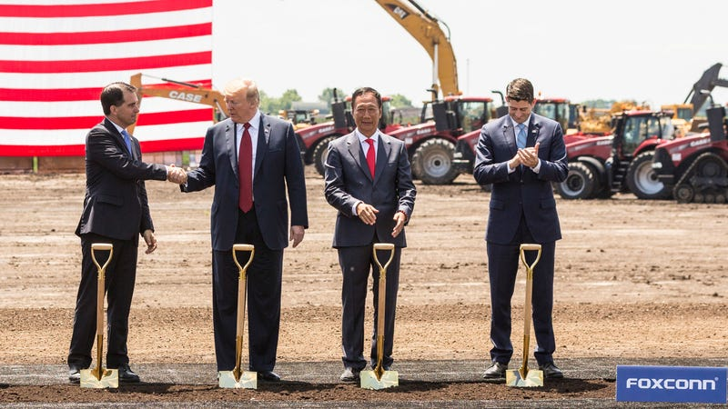 Illustration for article titled Foxconn Plant to Open in 2020 With Fewer Jobs Than Promised, and State Rep Has 'No Idea What They're Actually Going to Be Doing'
