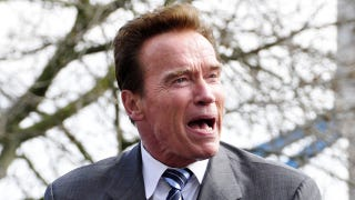 Illustration for article titled Arnold Schwarzenegger Plans Reunion With His Love Child And Mistress