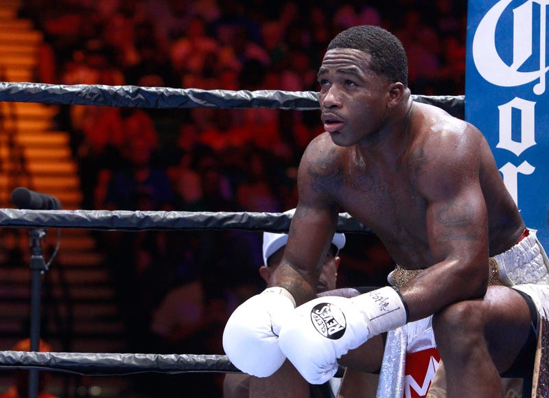 Adrien Broner before the start of a round during a fight in Las Vegas June 20, 2015Steve Marcus/Getty Images