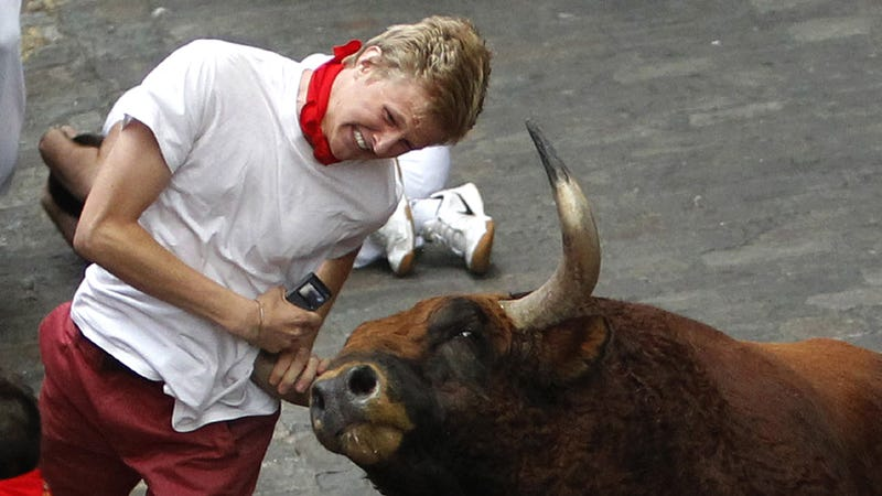 Illustration for article titled The Running Of The Bulls Keeps Happening Despite Shit Like This