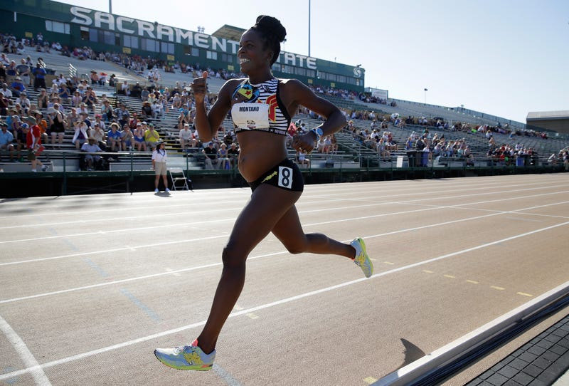 Alysia Montano runs in the Women's 800 Meter during Day 1 of the 2017 USA Track & Field Championships on June 22, 2017 in Sacramento, California.