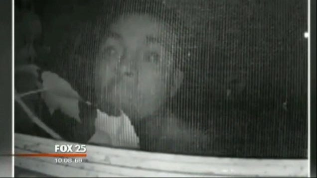 Creepy Ass Peeping Tom Caught On Bedroom Window