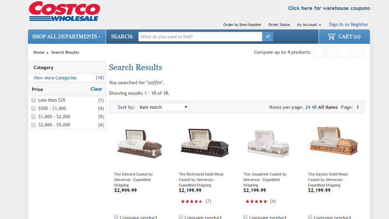 Illustration for article titled Save Money on Coffins at Costco