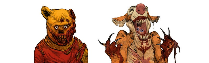 Illustration for article titled Zombie Pooh Thirsts For Brains, Not Honey