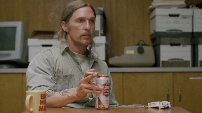 Illustration for article titled Every time I see middle-aged Rust Cohle in True Detective...
