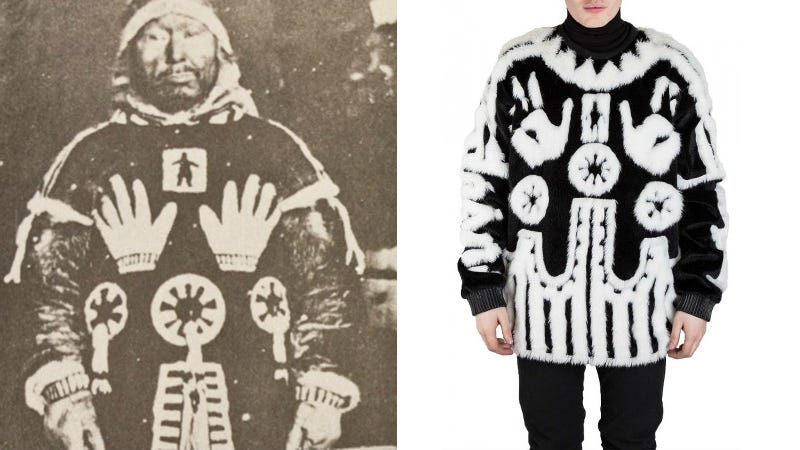 Illustration for article titled Is This $1,000 Sweater a Rip-Off of a Sacred Inuit Design? Totally