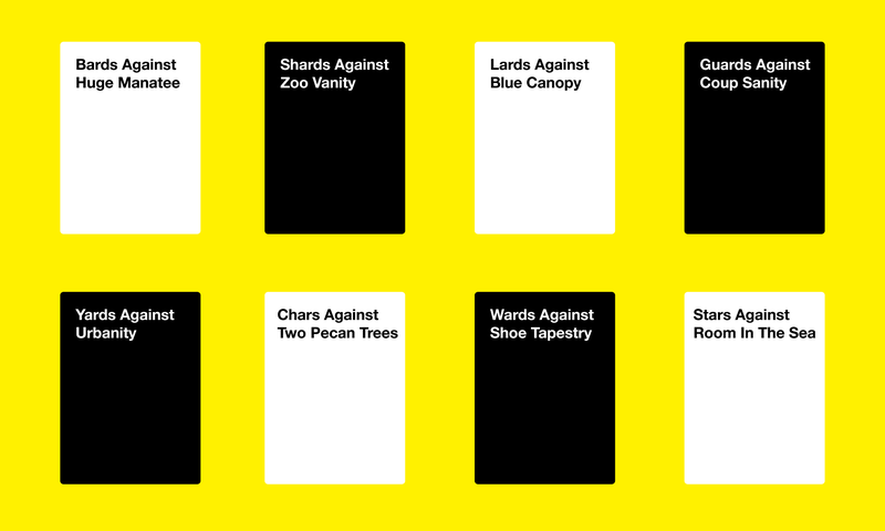 graphic regarding Cards Against Humanity Printable called Playing cards Towards Humanitys In no way-Finishing Overcome From Copycats