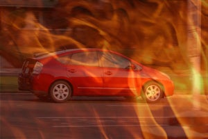 Illustration for article titled Aftermarket Plug-In Prius Battery Causes Balls of Fire, Explosion