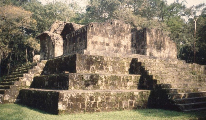 Photo of an actual ancient Maya structure. (Image: Takeshi Inomata)