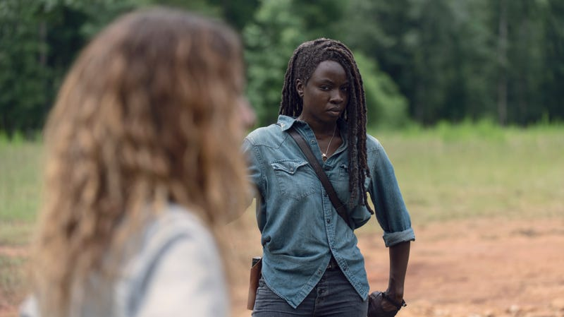 Michonne (Danai Gurira) has made this exact same face for the entirety of two whole episodes.