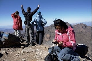 Illustration for article titled Playing DS On The Highest Peak In North Africa