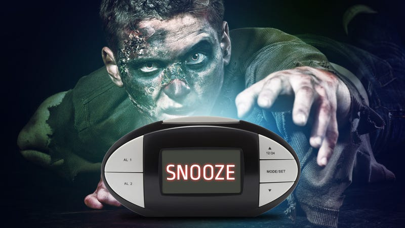 Illustration for article titled Does the Snooze Button Turn You into a Zombie?