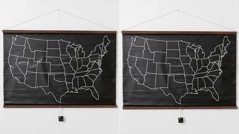 Illustration for article titled This USA Chalkboard Map Takes You Back to Geography Class