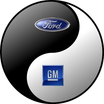 Illustration for article titled Report: GM, Ford Exploring Making Sweet, Sweet Engine Collaboration Love