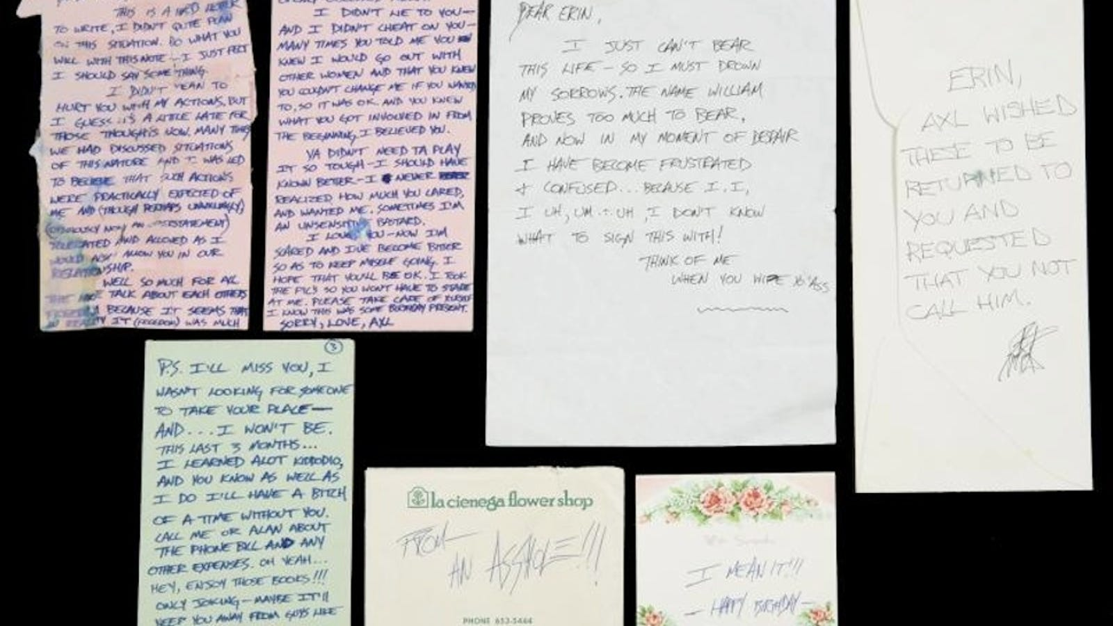 Crap Notes From A Dude Axl RoseS Manic Douchey Breakup Letters