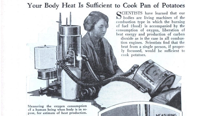 Illustration for article titled Shove This Insane Contraption on Your Head to Cook Potatoes