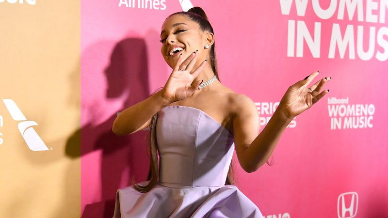 Ariana Grande attends Billboard Women In Music 2018 on December 6, 2018 in New York City.
