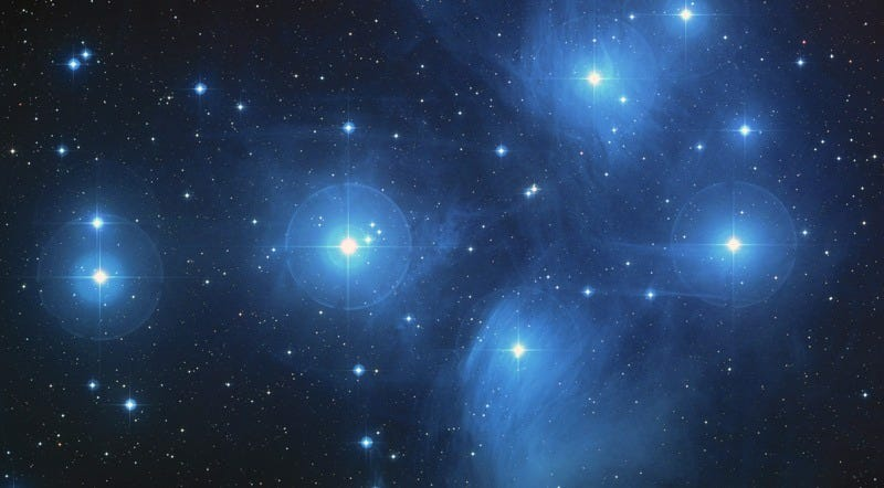 Color composite image of the Pleiades. Image: NASA/ESA/AURA/Caltech