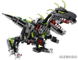 Illustration for article titled Motorized Lego Monster Dino