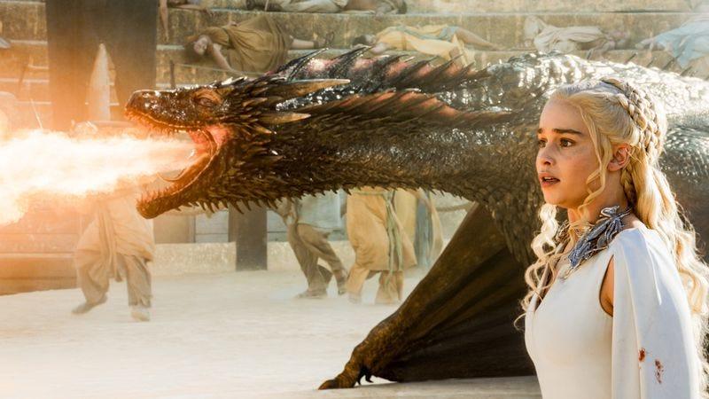 Drogon, Emilia Clarke (HBO)