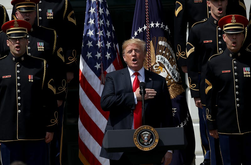 """President Donald Trump at the """"Celebration of America"""" event on the South Lawn of the White House on June 5, 2018, in Washington, D.C."""