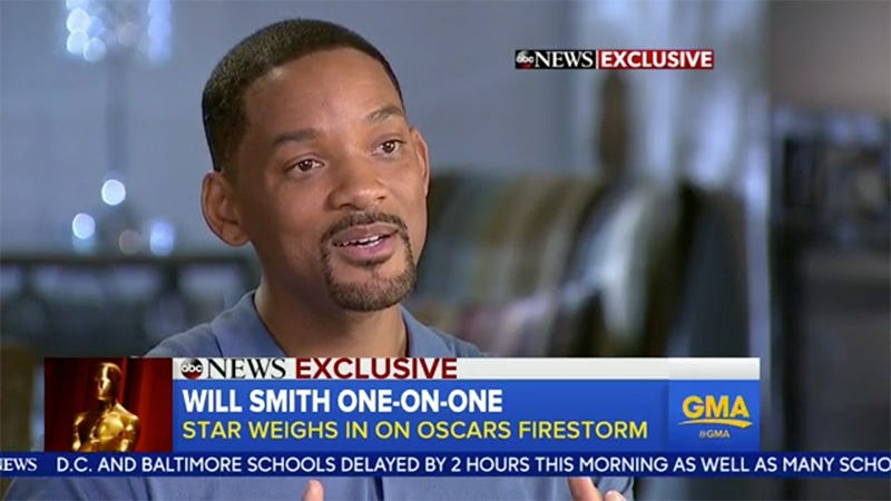 Illustration for article titled Will Smith Will Not Attend the Oscars, Says 'Diversity Is the American Superpower'