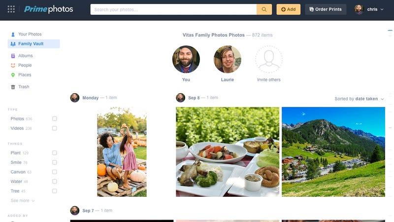 If You Have An Amazon Prime Subscription, You Can Upload An Unlimited  Number Of Pictures To Prime Photos At Their Full Resolution. With The New  Family Vault ...