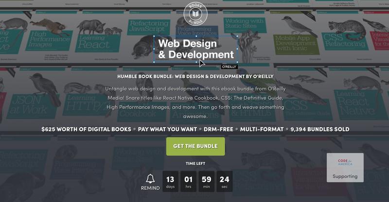 O'Reilly Web Design & Development Bundle | Humble
