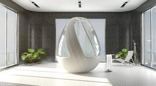 Illustration for article titled Cocoon Egg Shower Concept Lets You Pretend You're In Darth Vader's Isolation Pod