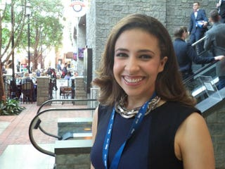 Illinois Republican congressional candidate Erika Harold campaigns at the Conservative Political Action Conference in National Harbor, Md., March 8, 2014.DAVID SWERDLICK/THE ROOT