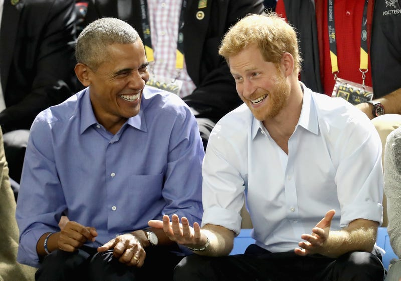 Former President Barack Obama and Prince Harry of England at the Invictus Games 2017 on Sept. 29, 2017, in Toronto (Chris Jackson/Getty Images for the Invictus Games Foundation)