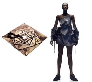 Illustration for article titled Geometric Clothes Fold Into Futuristic Outfits With Plenty of Creases