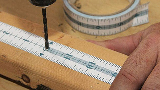 sticky tear off measuring tape saves your walls from pencil marks. Black Bedroom Furniture Sets. Home Design Ideas