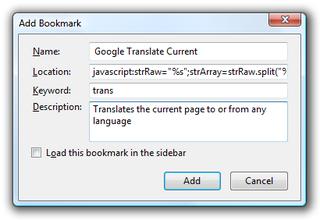 Illustration for article titled Create Smarter Google Translate Keyword Bookmarks