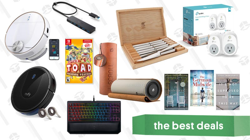 Illustration for article titled Sunday's Best Deals: Razer Keyboard Eufy Robovacs, TP-Link Smart Plugs, and More