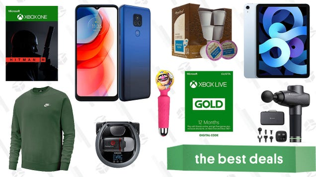 Thursday s Best Deals: iPad Air, TaoTronics Massage Gun, Hitman 3, 2021 Moto Phones, Samsung Powerbot, Xbox Live Gold, Better Love Pixie Wand, and More